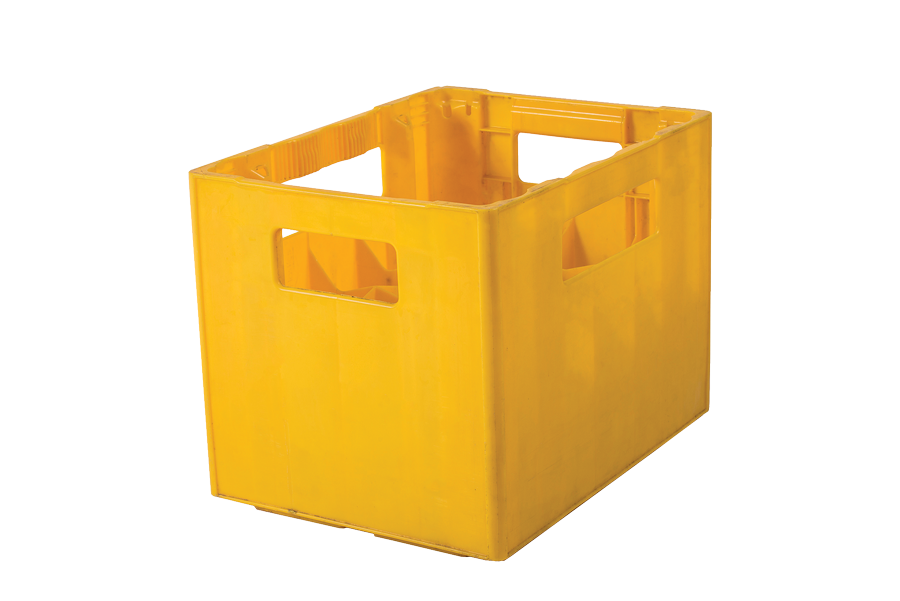 20 spaces plastic crate for 0,5 litre beer bottles