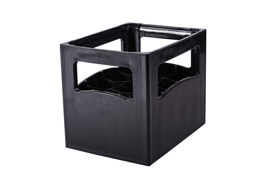 12 spaces plastic crate for 1-1,5 litre soft drink and mineral water bottles