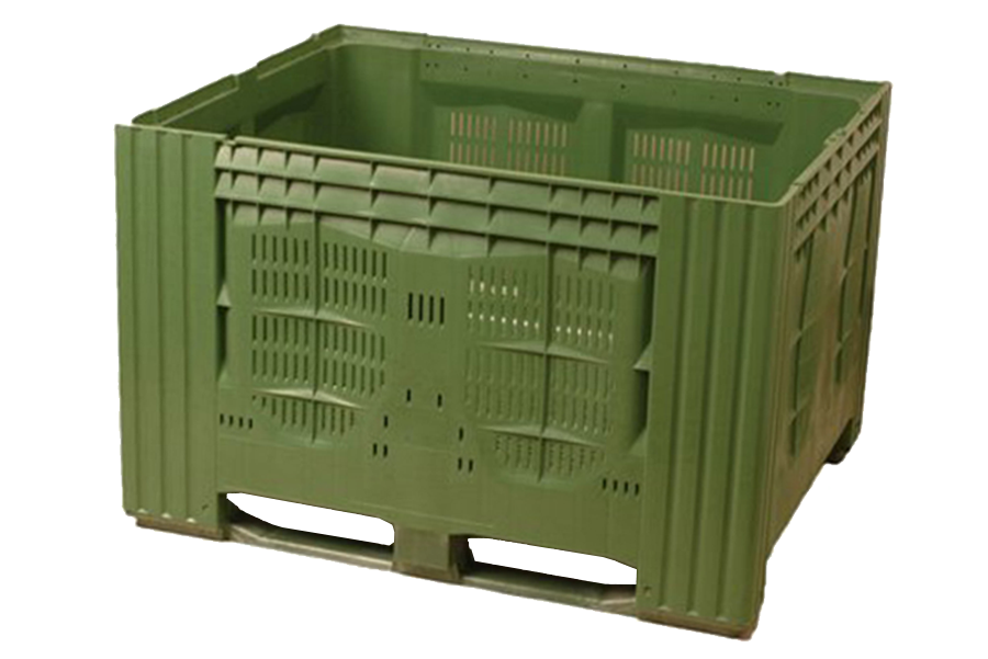 Pallet-box with perforated walls in size of 1000x1200x780 mm 120NB